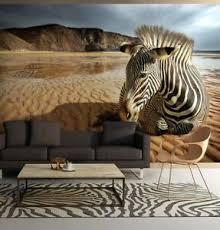 details zu 254x183cm large wall mural photo wallpaper for living room zebra on the desert