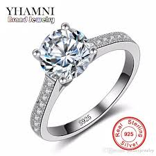 2018 Yhamni Luxury  925 Sterling Silver Wedding Rings For Women