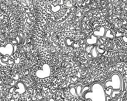 Hearts And More Printable Adult Colouring Sheet