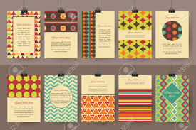 Set Of Creative Vintage Cards Best Hand Made Design For Poster Placard