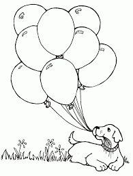 Hello Kitty With Heart Balloons Coloring Page Free Printable In
