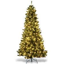 Costway Costway 75Ft PreLit PVC Artificial Christmas Tree Hinged