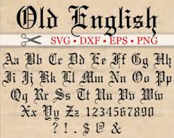 OLD ENGLISH Monogram Svg Font Gothic Letters Dxf Eps Png