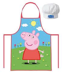 jeux fr de cuisine ensemble cuisine peppa pig toque et tablier jeux