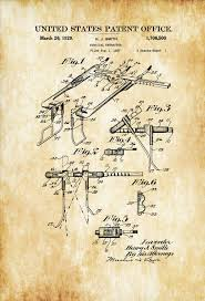 surgical retractor patent print medical art doctor office decor