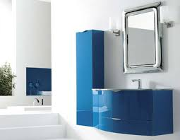 bathroom design blue color bathroom vanities wall mount modern