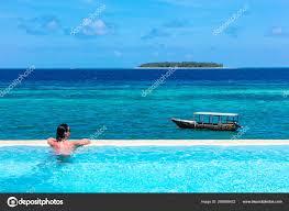 100 Infinity Swimming Woman Vacations Sunbathing Infinity Swimming Pool Muyuni Unguja