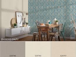 tapete vlies barock vintage blau 33607 5 as creation secret