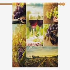 Amazoncom INTERESTPRINT Autumn Decor Collage Of Wine Grapes And