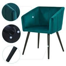 stühle esszimmerstuhl armlehnstuhl samt grün petrol sessel