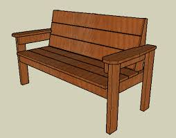 plans to build a wooden park bench new woodworking style