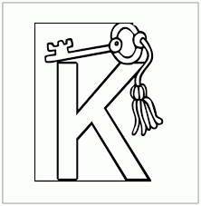 K Is For Key Coloring Pages