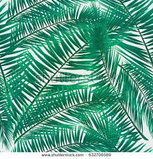 Seamless Pattern Of Colorful Tropical Leaves On White Background Greeting Cards Wallpapers Flyers