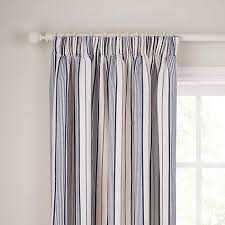 Lined Curtains John Lewis by Buy John Lewis Dorset Stripe Lined Pencil Pleat Curtains Blue