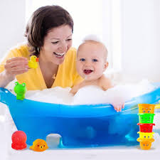 Inflatable Bath For Toddlers by My First Stacking Cups For Toddlers Agreatlife