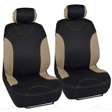 Tan/Black Car Seat Covers For Sedan SUV Truck Set Split Bench ... Fia Neo Neoprene Custom Fit Truck Seat Covers Front Split American Flag Made In The Usa Patriotic Cartruck Buckets For Suv Van Sedan Coupe Jeep Wrangler Jk Rugged Ridge Cover Black With Installed Coverking Nissan Titan Forum Browse Products Autotruck At Camoshopcom Tj Fit 1997 1998 1999 2000 2001 1326501 Rear 2 Hq Issue Tactical Cartrucksuv Universal 284676 By Wet Okole Seats Etc Interior Guaranteed Exact For Your Car