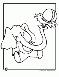 Cute Elephant Coloring Page