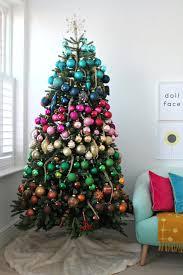 Rainbow Faux Christmas Tree
