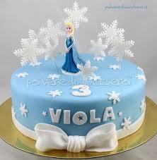 Torta Frozen con Elsa Frozen cake with Elsa