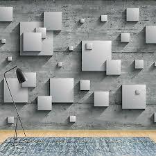 fototapete vlies 3d grau betonoptik schlafzimmer
