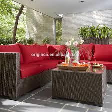 casual seating espresso color sectional patio corner sofa set