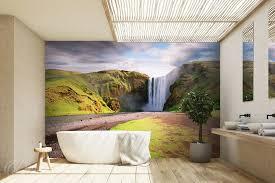 aquatisches wunder in der mitte des grünes für badezimmer