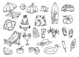 Set Of Hand Drawn Summer Related Object