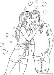 Barbie And Ken Coloring Page Love