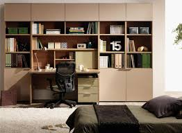 Extraordinary Student Room Furniture From Hanssem With Wooden Closet And Bookcase Dark Bed Design
