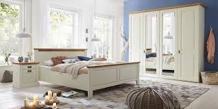 schlafzimmer 4teilig kiefer chagner lackiert eiche geölt bett 180x200 42 cm hoch kleiderschrank 4trg spiegel 214x228x63cm 2 nachtkonsolen casade
