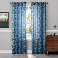 Geometric Pattern Sheer Curtains by Teal Blackout Curtains Mainstays Texture Blackout Lined Energy