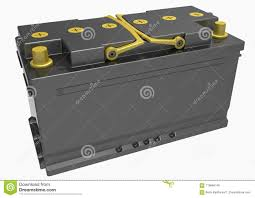 3D Black Truck Battery With Yellow Handles And Yellow Terminals ...