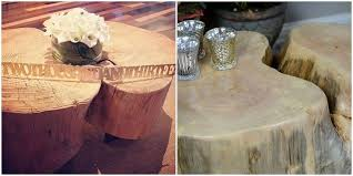 diy tree stump table an ellen show knock off hometalk