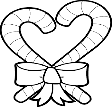Candy Cane Heart Coloring Pages Cartoon Download2