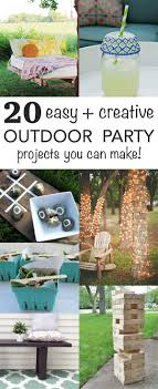 20+ Easy & Creative Outdoor Party Projects | Summer Parties And ... Backyard Diy Projects Pics On Stunning Small Ideas How To Make A Space Look Bigger Best 25 Backyard Projects Ideas On Pinterest Do It Yourself Craftionary Pictures Marvelous Easy Cheap Garden Garden 10 Super Unique And To Build A Better Outdoor Midcityeast Summer Frugal Fun And For The Gracious 17 Diy Project Home Creative