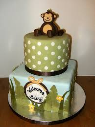Jungle Themed Baby Shower Cake CakeCentralcom