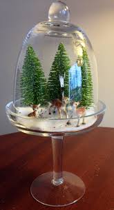 Christmas Tree Disposal Bags Walmart by My Retro Christmas Mini Diorama Glass Cupcake Dome From Tj Maxx