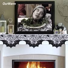 Halloween Fireplace Mantel Scarf by Ourwarm Halloween Spider Web Bats Fireplace Mantel Scarf 50x200cm