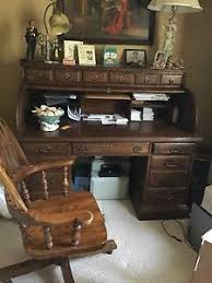 Ethan Allen Secretary Desk With Hutch by Ethan Allen Oak Roll Top Desk And Chair Beautiful Ebay