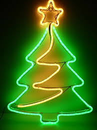 UK Gardens 64cm LED Neon Christmas Tree Ropelight Outdoor Decoration