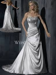 silver wedding dresses wepromdresses net