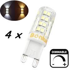 4 packs 4w g9 led light bulb dimmable corn bulb 40w
