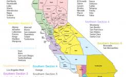 California Map With Regions Csla Region School Library Association 916 X 768