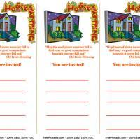 Free Printable House Warming Invitations Cards