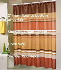 Floor To Ceiling Tension Rod Curtain by A Standard Shower Curtain Size Guide Linen Store