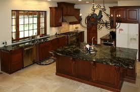 Above Kitchen Cabinet Decor Great Grey Counrtertop Connected Tile Backsplash Glossy Black Laminate Base Rustic Chandelier Lighting Mid