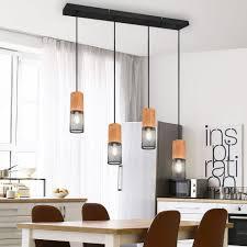 etc shop hängeleuchte pendel decken strahler le käfig holz wohn zimmer beleuchtung hänge leuchte kaufen otto