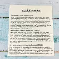 Kloverbox April 2019 Subscription Box Review & Coupon ... Brthaven Coupon Code Sushi Maki Promo Insanely Awesome Food From Top Dc Chefs Introducing Hungry Uber Eats Promo Codes Offers Coupons 70 Off Dec 0809 Dont Miss This Freebie On National Root Beer Float Day Jack In The Box 4161 Saint Rose Parkway Henderson 89044 100 Subscription 2019 Urban Tastebud Coupon Code For Additional 20 Off Graphic Arts Bundle 90 Best Men Apparel Accsories Images Promotion Love With Review Off The Kooky Font More March Mellow Mushroom Out Of World Pizza Lifestyle