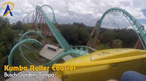 Kumba Roller Coaster Front Seat POV at Busch Gardens Tampa