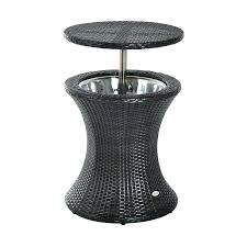 Patio Side Tables At Walmart by Patio Side Table With Umbrella Hole Crosley Metal Retro White